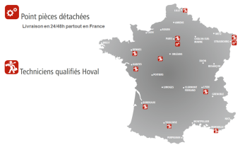 Carte de France SAV Hoval