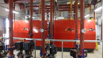 Chaudières gaz condensation UltraGas Hoval à l'usine Siemens