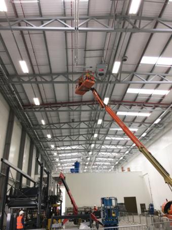 Aérochauffeurs Hoval TopVent dans l'usine Siemens