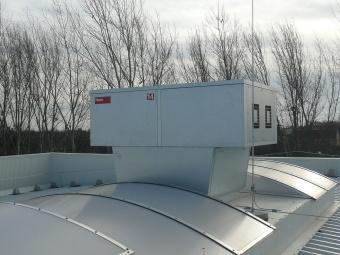 RoofVent Hoval pour ventilation usine Hilti